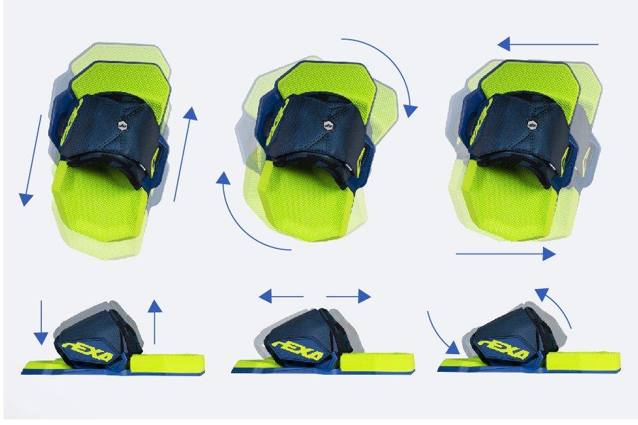 CrazyFly Hexa Kiteboard Bindung Einstellmöglichkeiten